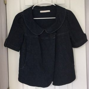 Dark denim short sleeve jacket